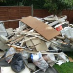 Builders waste cleared within garden clearance job in Bexley Kent