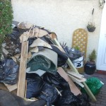 Rubbish clearance in Well Hall Road, Eltham