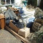 Garden waste collection in West Wickham, Bromley.